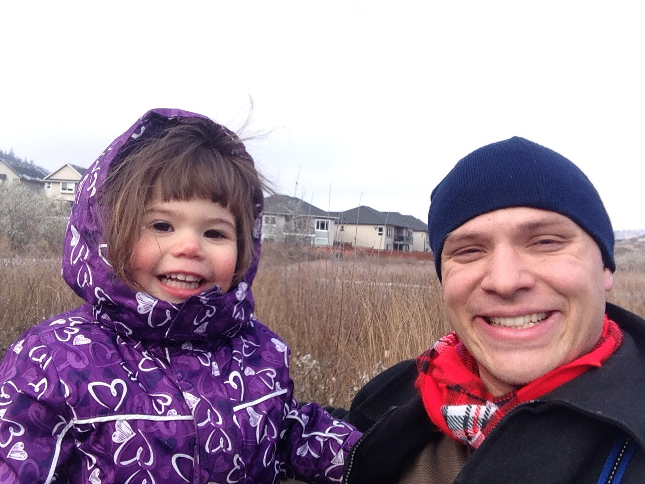 Livy and me on a walk after I got back from the REIN meeting(the next day)